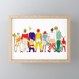 Fast Food Butts Mascots Framed Mini Art Print