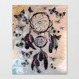 Dreamcatcher wild adventurer butterfly feathered dream Canvas Print