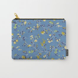 floral vines - blues Carry-All Pouch