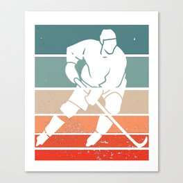 for Hockey Player Ice Vintage Goalie Hockey Canvas Print