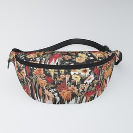 Free Falling, melting floral pattern Fanny Pack