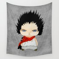 akira Wall Tapestries featuring A Boy - Tetsuo (Akira) by Christophe Chiozzi