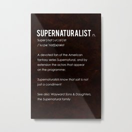 Supernaturalist Metal Print