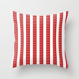 Hard Candy Strips Throw Pillow