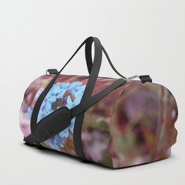 Blue Flowers, Red Thorns ~ Cedars of Lebanon, Tennessee Duffle Bag