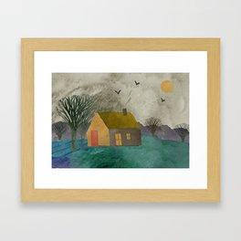 Little house Framed Art Print