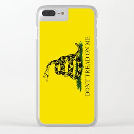 Gadsden Don't Tread On Me Flag, High Quality Clear iPhone Case