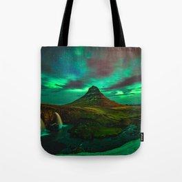 Lights over Kirkjufell Tote Bag