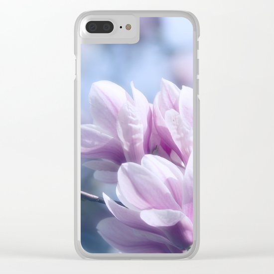 Magnolia beauty, patterns of nature Clear iPhone Case