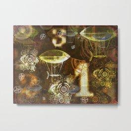 123 (A Steampunk Collage) Metal Print