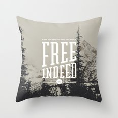 Free Indeed - Photo Throw Pillow