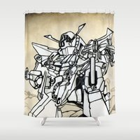 transformer Shower Curtains featuring Transformer by Dave Houldershaw