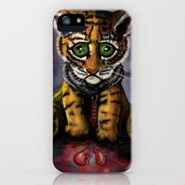 Sad Baby Tiger iPhone Case