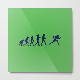 Evolution football Metal Print