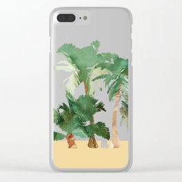 Tropical Landscape Clear iPhone Case