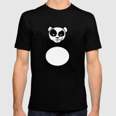 Panda Love Hug MEDIUM Black Mens Fitted Tee