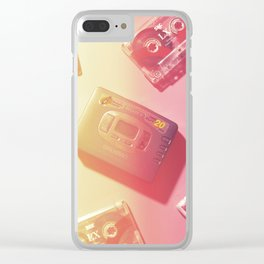Walkman and Cassettes#vintage#film#effect Clear iPhone Case