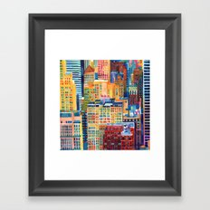 New York buildings Framed Art Print