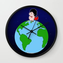 Taking over the world Wall Clock