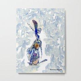 Blu Hare Too Metal Print