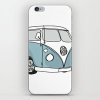 vw iPhone & iPod Skins featuring VW Camper by 1and9