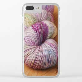 Hand dyed yarn Clear iPhone Case