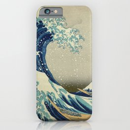 The Classic Japanese Great Wave off Kanagawa Print by Hokusai iPhone Case