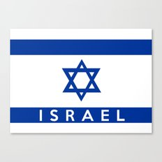 Israel country flag name text  Canvas Print