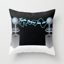 Tesla Turns Me On Throw Pillow