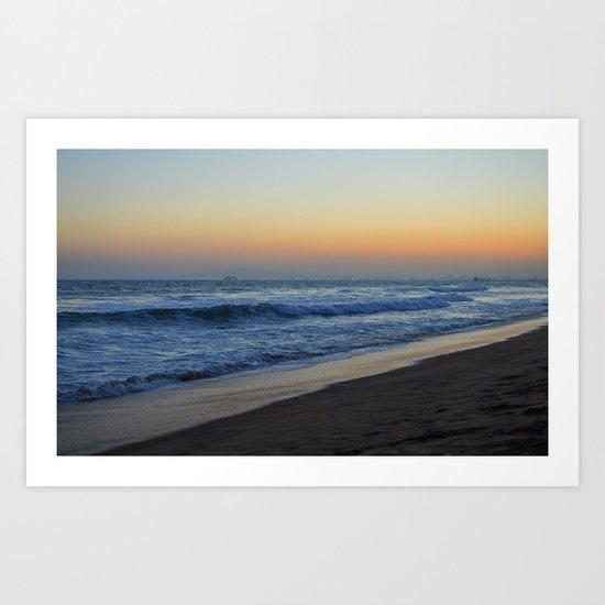 Beach. Art Print