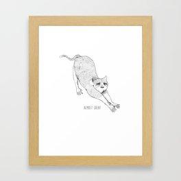 Cat-astrophe. Framed Art Print