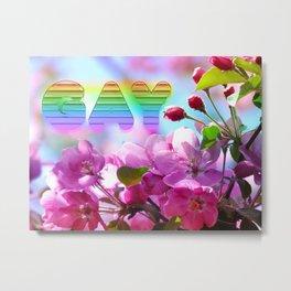 gay flowers Metal Print