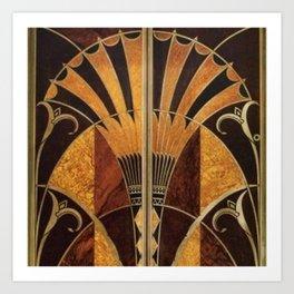 art deco wood Art Print