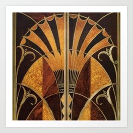 art deco wood Kunstdrucke