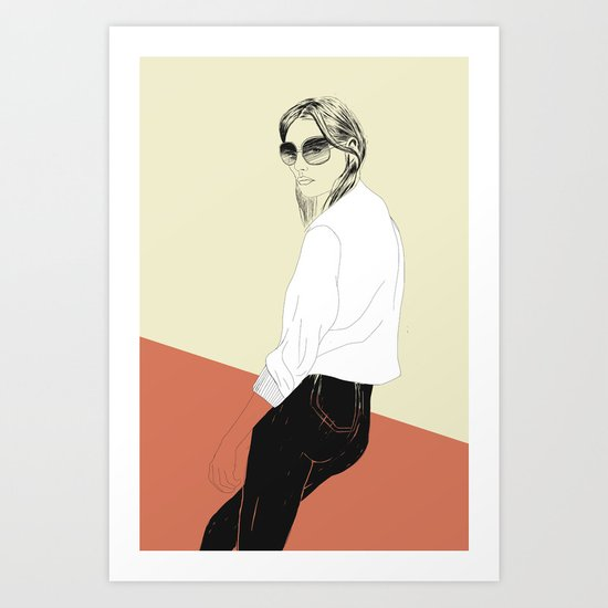 Woman Color 16 Art Print