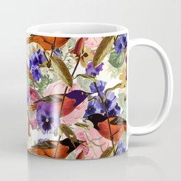 Floral Birds Pattern Coffee Mug