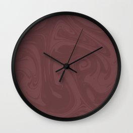 Pantone Red Pear Abstract Fluid Art Swirl Pattern Wall Clock