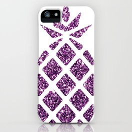 Colorful Pineapples Purple iPhone Case