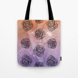 Purple & Orange Roses Tote Bag