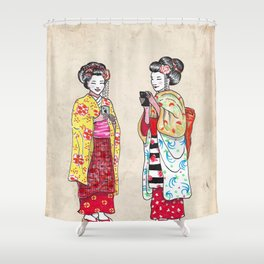 Geishas Shower Curtain