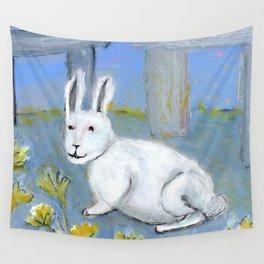 Stonehenge Rabbit Wall Tapestry