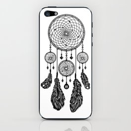 Dreamcatcher (Black & White) iPhone Skin