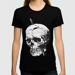 Frontal Lobotomy Skull Of Phineas Gage Vector Isolated T-shirt