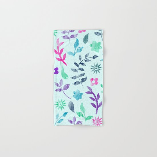 Seamless Flower Pattern Hand & Bath Towel