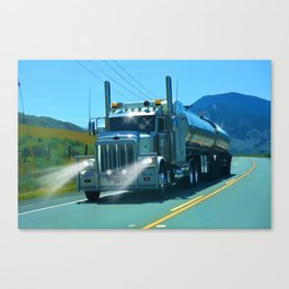 On the Highway Home Canvas Print