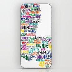 Louisiana Typography iPhone Skin