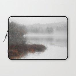 Foggy lake on a winter day - Nature Photography Laptop Sleeve