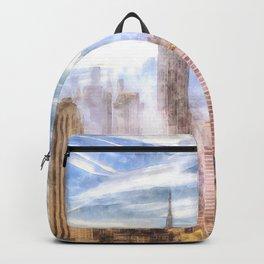 New York Manhattan Skyline Art Backpack