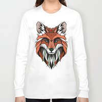 andreas preis Long Sleeve T-shirts featuring Fox // Colored by Andreas Preis