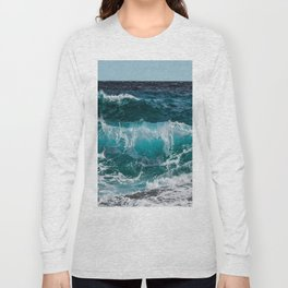 Breakers Rolling In To Shore Long Sleeve T-shirt